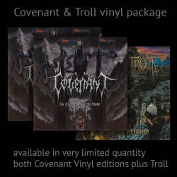 Ltd Package: Covenant - In Times Before the Light 2LP Silver + Black + Troll - Drep de Kristne LP black